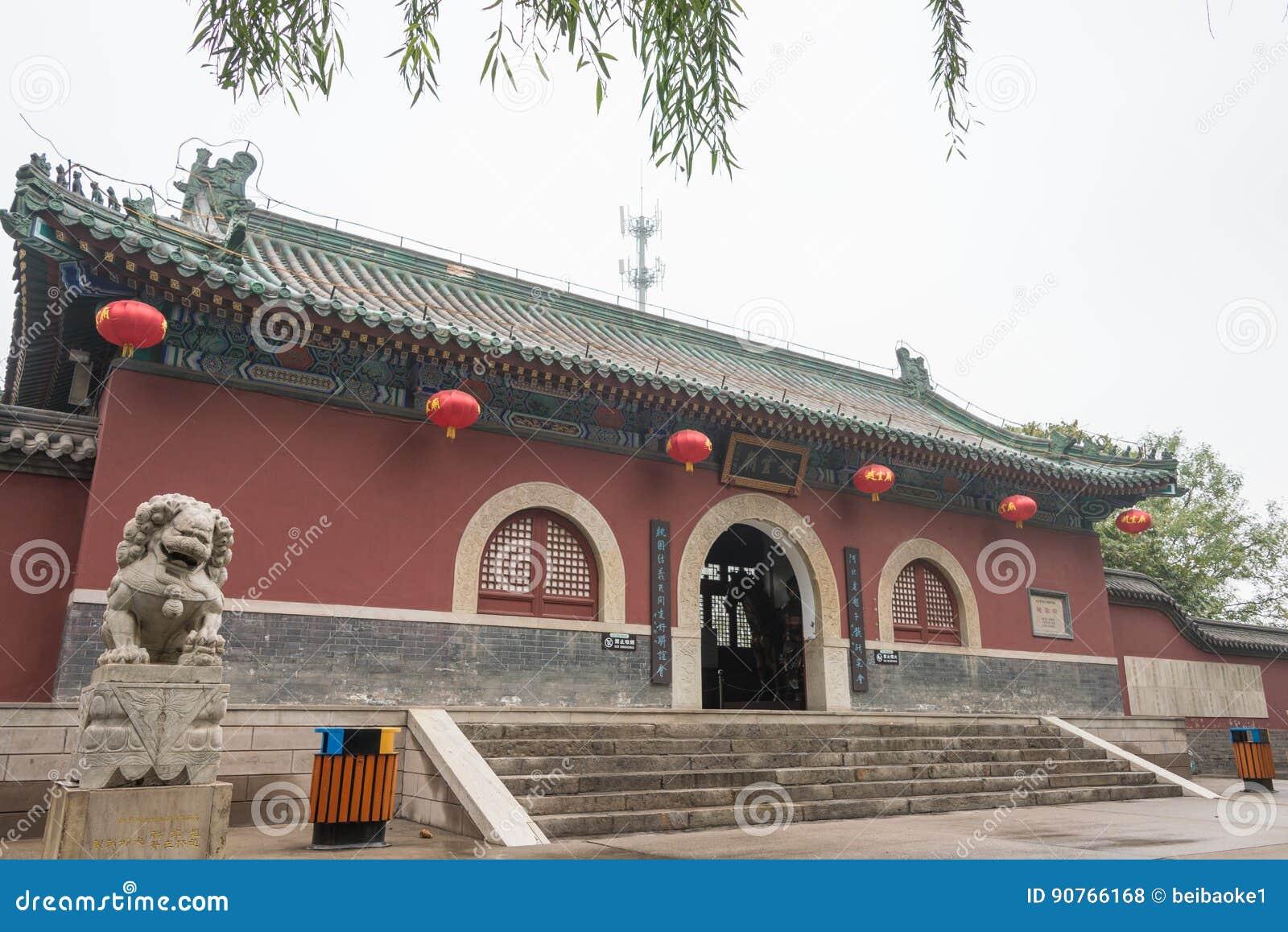 HEBEI, CINA - 23 ottobre 2015: Tempio di Zhaoyun un si storico famoso