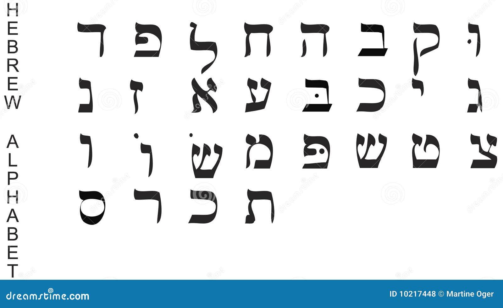 Hebreeuws alfabet vector royalty vrije stock foto 39 s for Lettere ebraiche