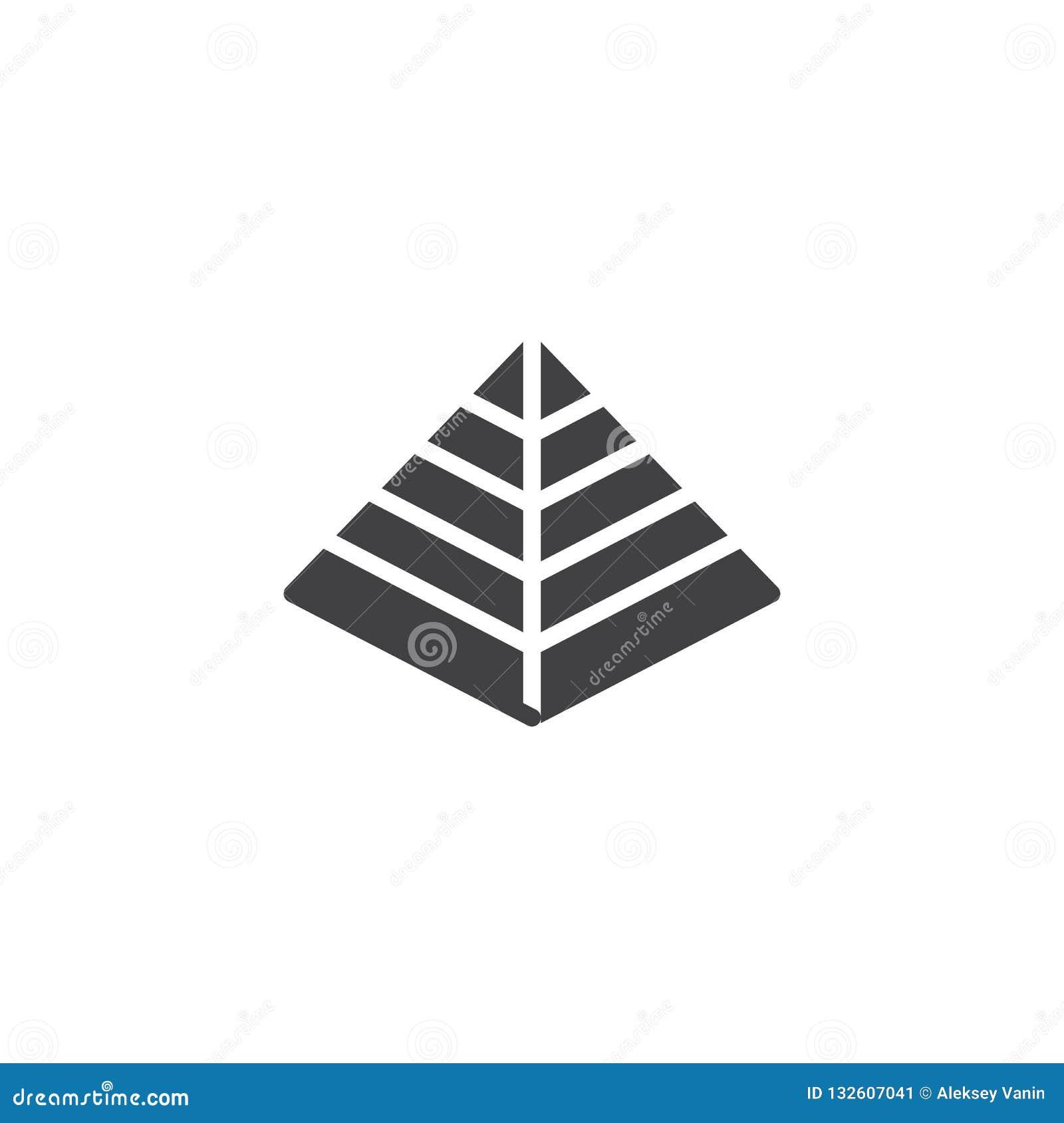 Hebreeuws Piramide vectorpictogram