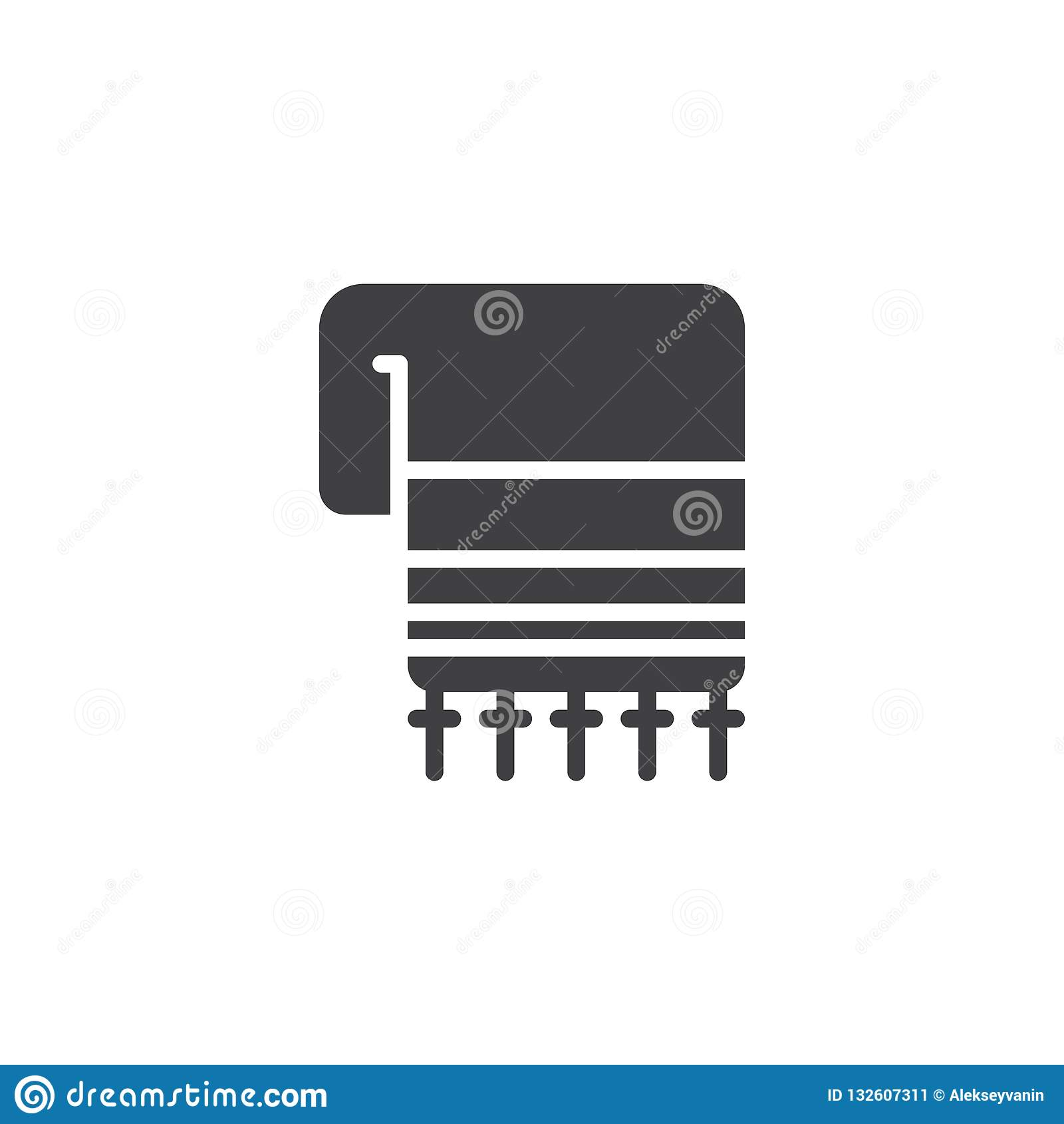 Hebrew Tallit vector icon