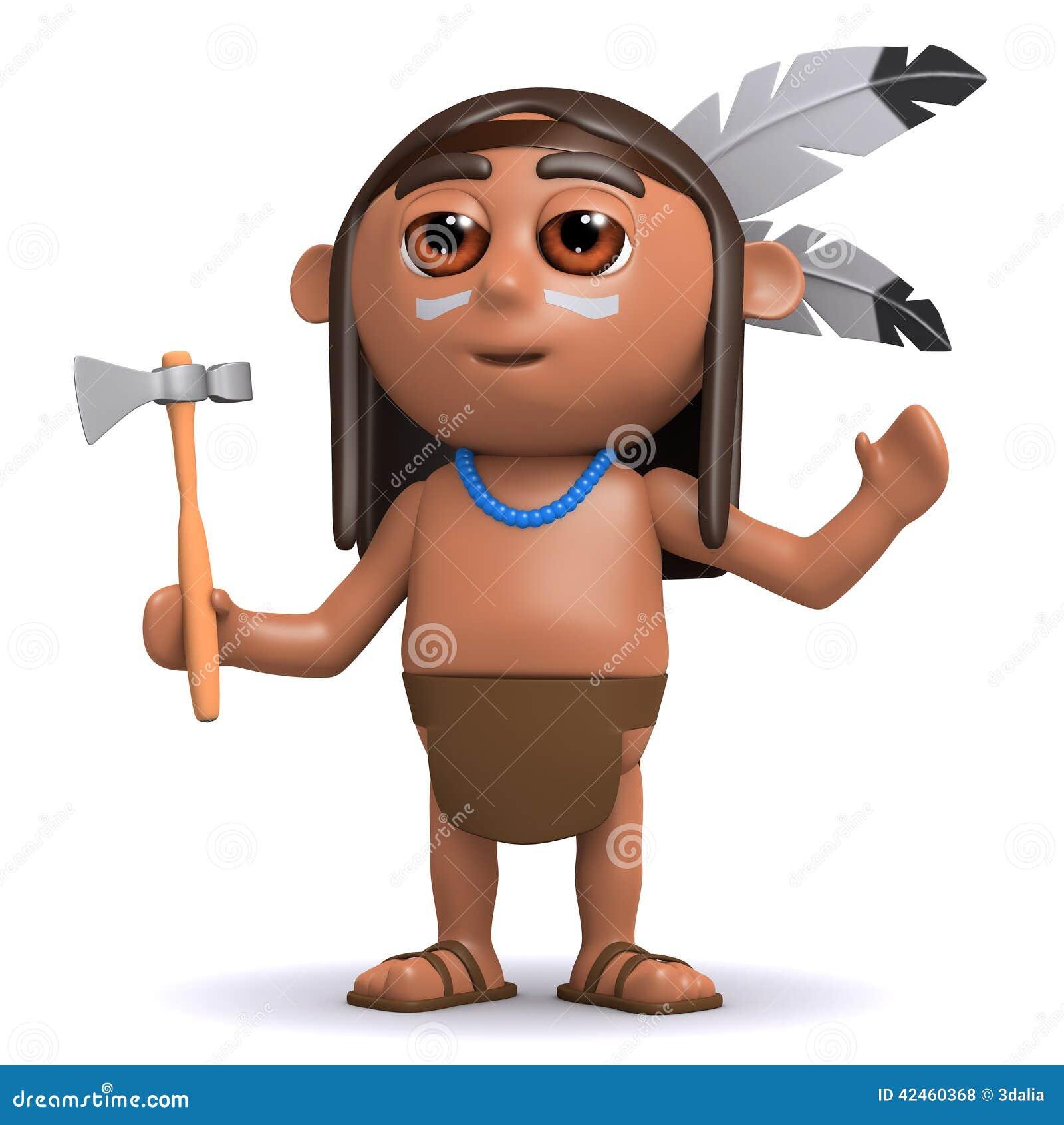 Hebt gebürtiger indianischer Junge 3d seine Arme an