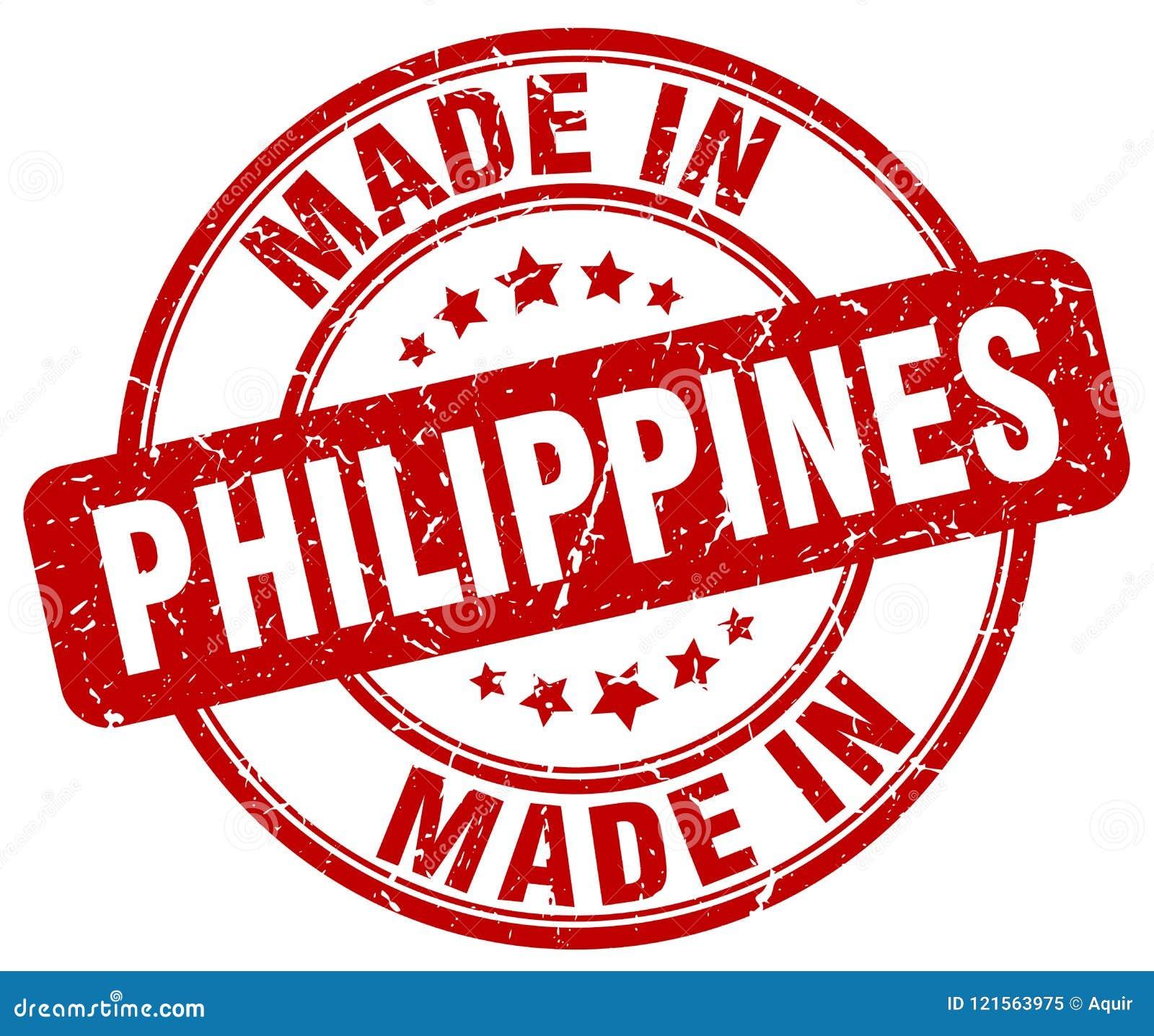 Hecho en el sello de Filipinas