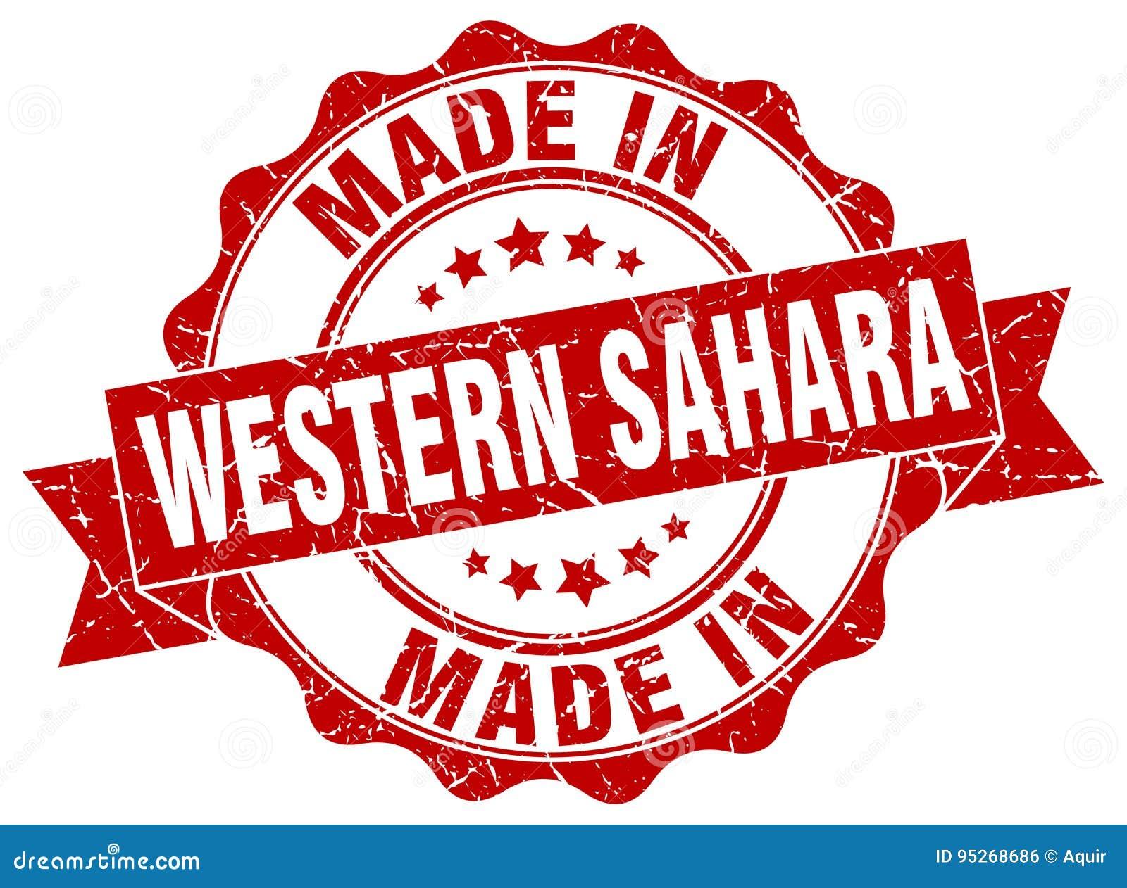 Hecho en el sello de Western Sahara