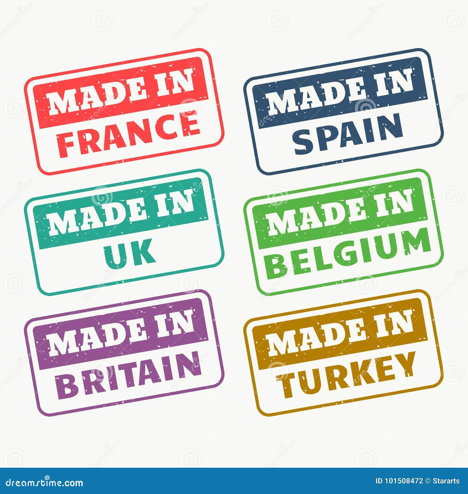Hecho En Francia, España, Reino Unido, Bélgica, Gran Bretaña Y Los ...