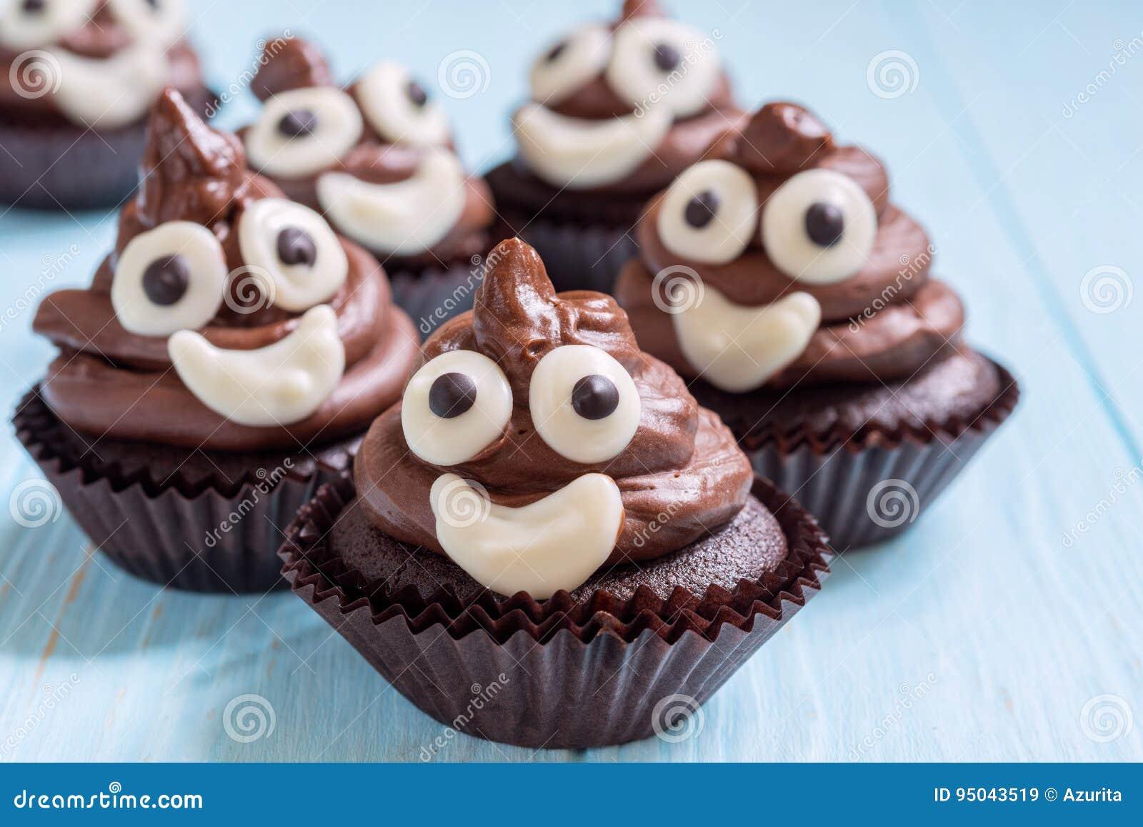 Heck Emoji Kleine Kuchen Stockbild Bild Von Feinschmecker 95043519