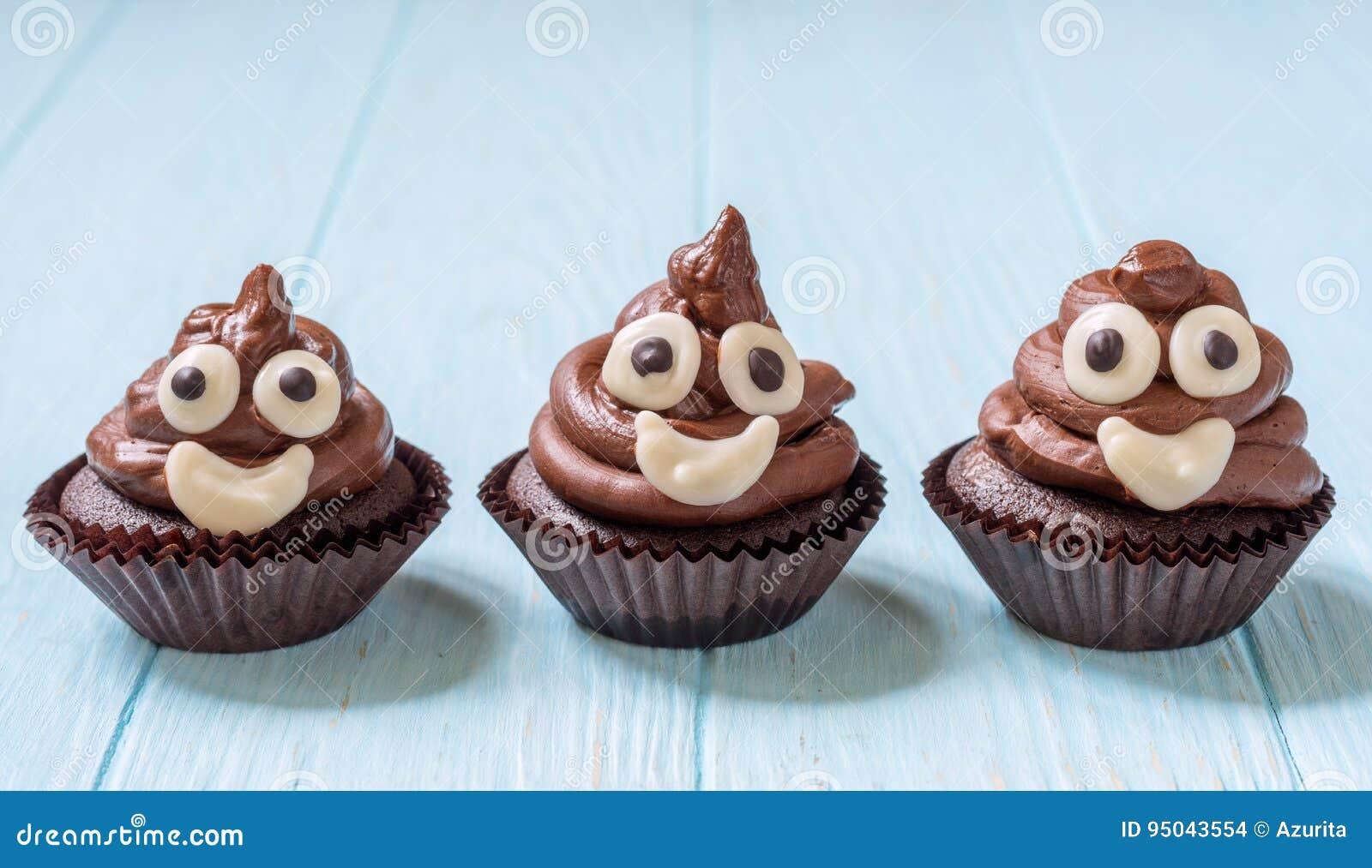Heck Emoji Kleine Kuchen Stockfoto Bild Von Bereift 95043554