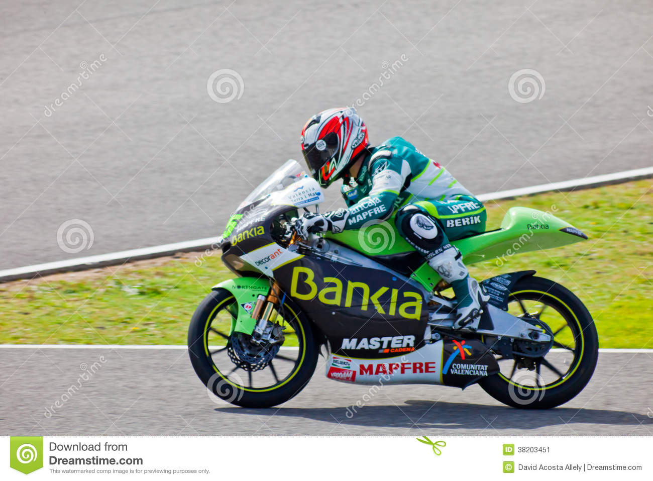 Hector Faubel Pilot Of 125cc Of The MotoGP Editorial Photo - Image: 38203451