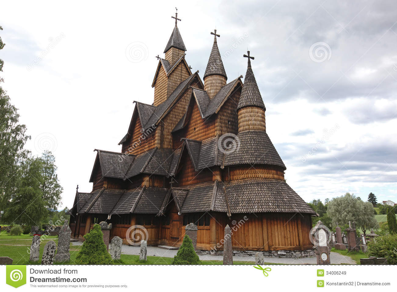 Heddal Stavkirke In Norway Royalty Free Stock Images - Image: 34006249
