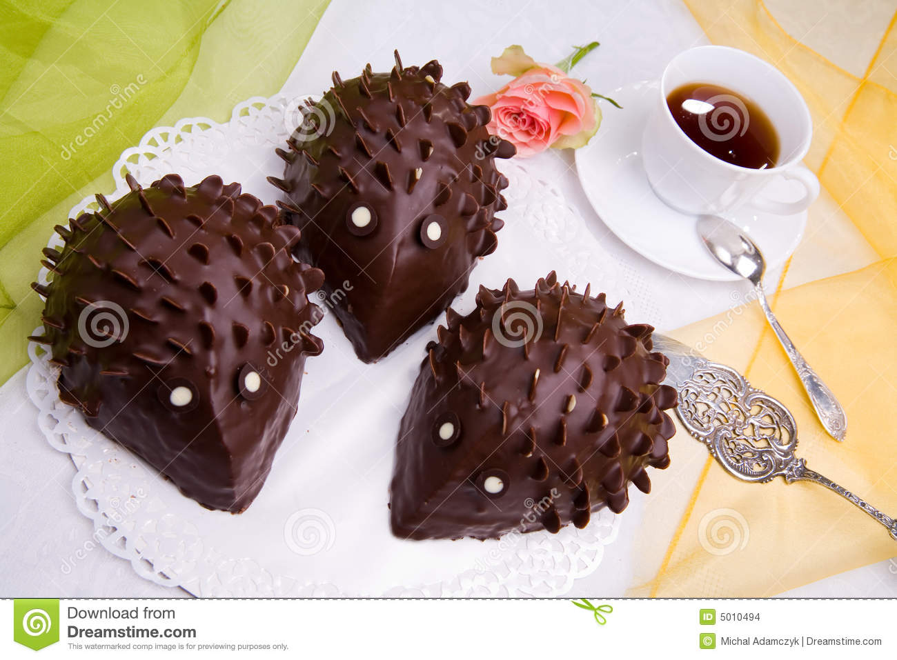 Hedgehog Cake Stock Photo Image Of Chocolate Coffee
