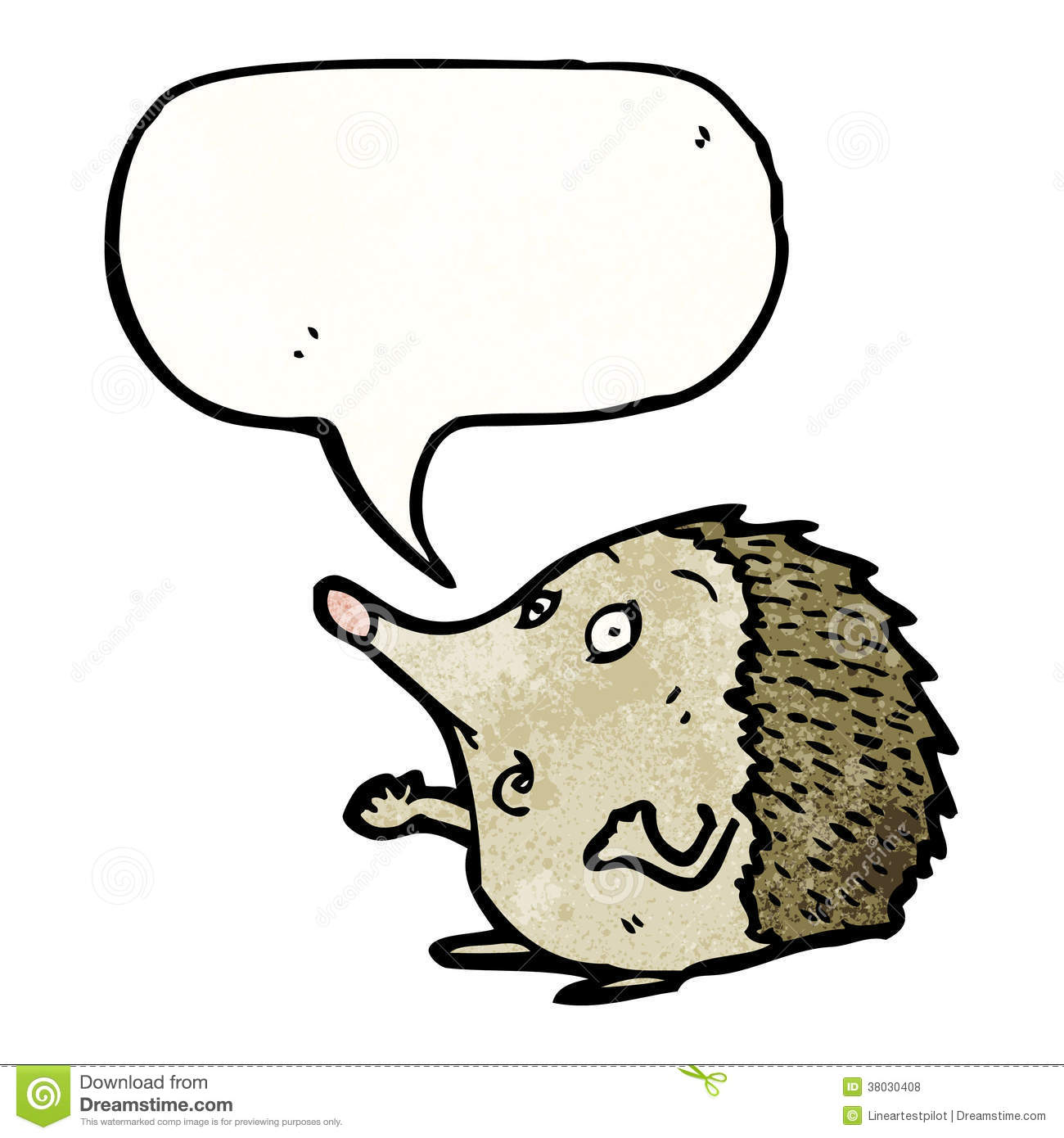 More similar stock images of ` hedgehog cartoon character with speech ...