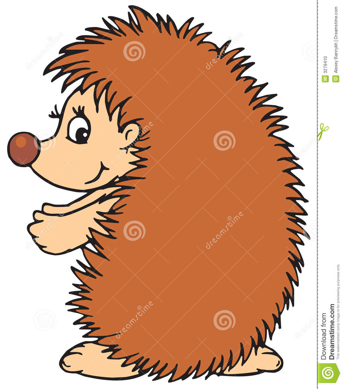 hedgehog vector clip art stock vector illustration of humor 3279410 rh dreamstime com hedgehog clipart outline hedgehog clip art pinterest