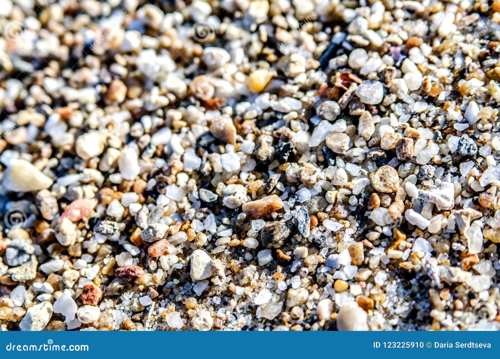 Heel wat kiezelstenen in het zand op het strand
