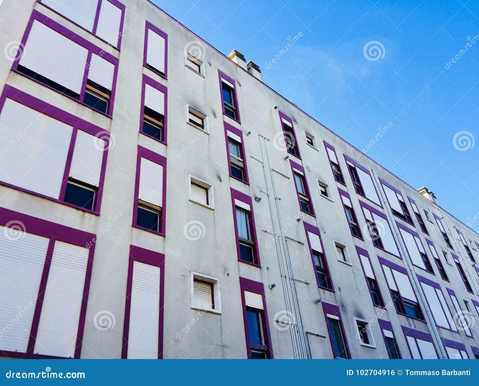 Heel wat vensters in de de bouwvoorgevel