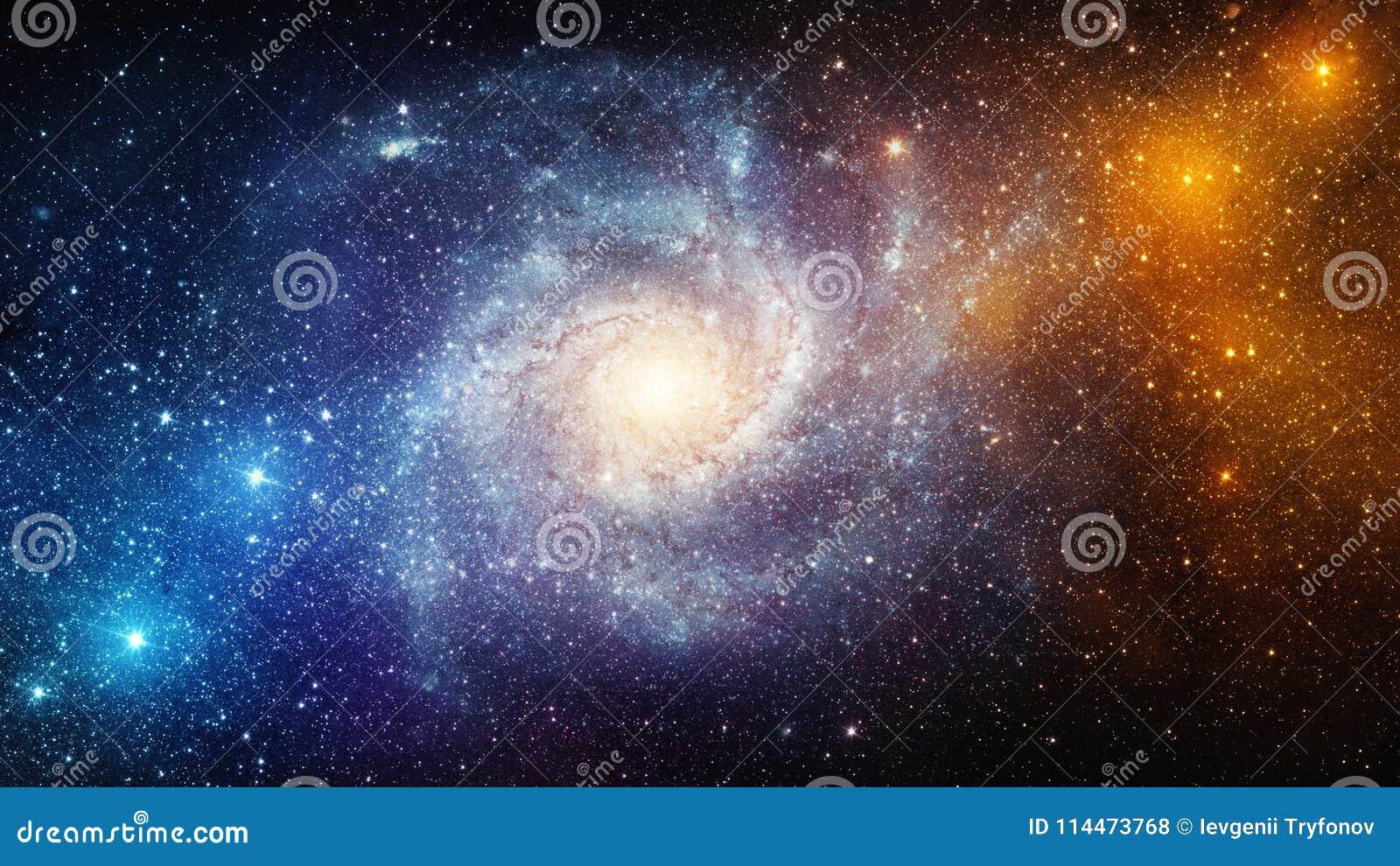 Heelal met sterren, nevel en melkweg wordt gevuld die Elementen van dit