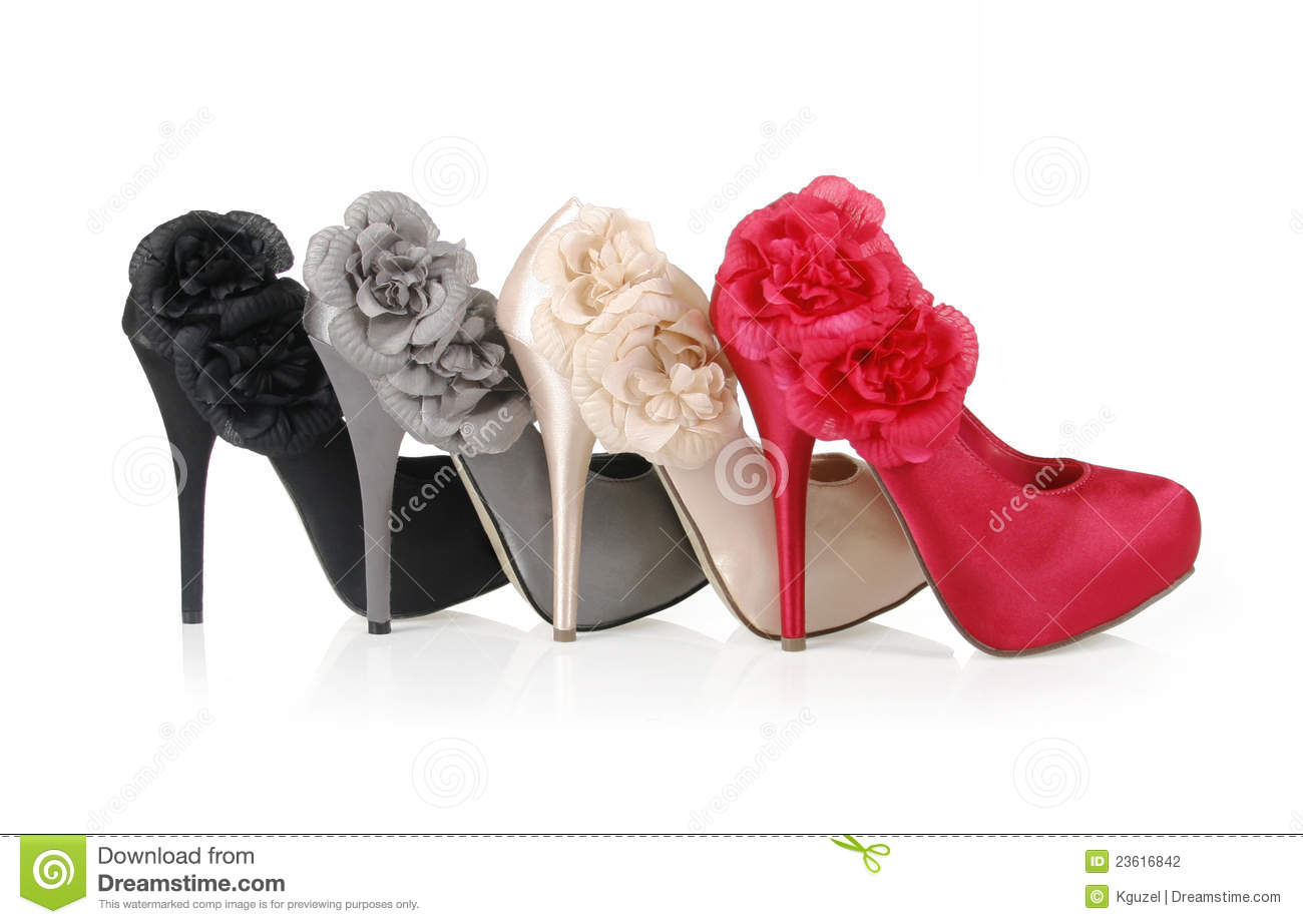 Heels With Flowers Stock Photo Image Of Casual Beauty 23616842
