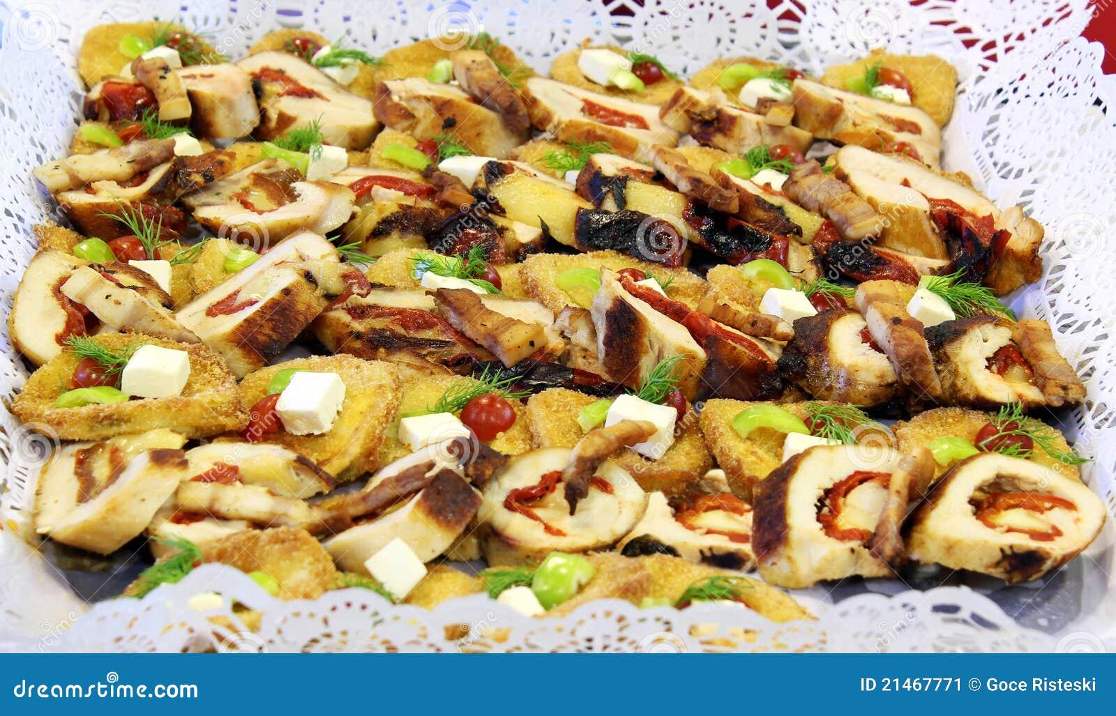 Heerlijk cateringsvoedsel