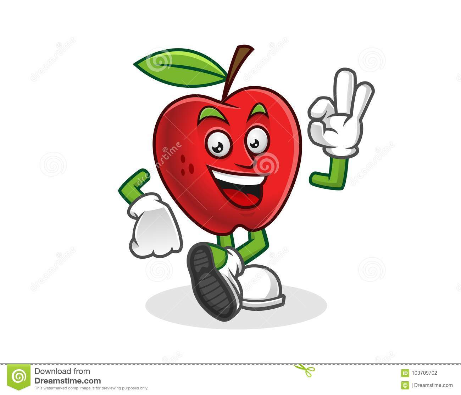 Heerlijke Appelmascotte Vector Van Apple-karakter Apple ...