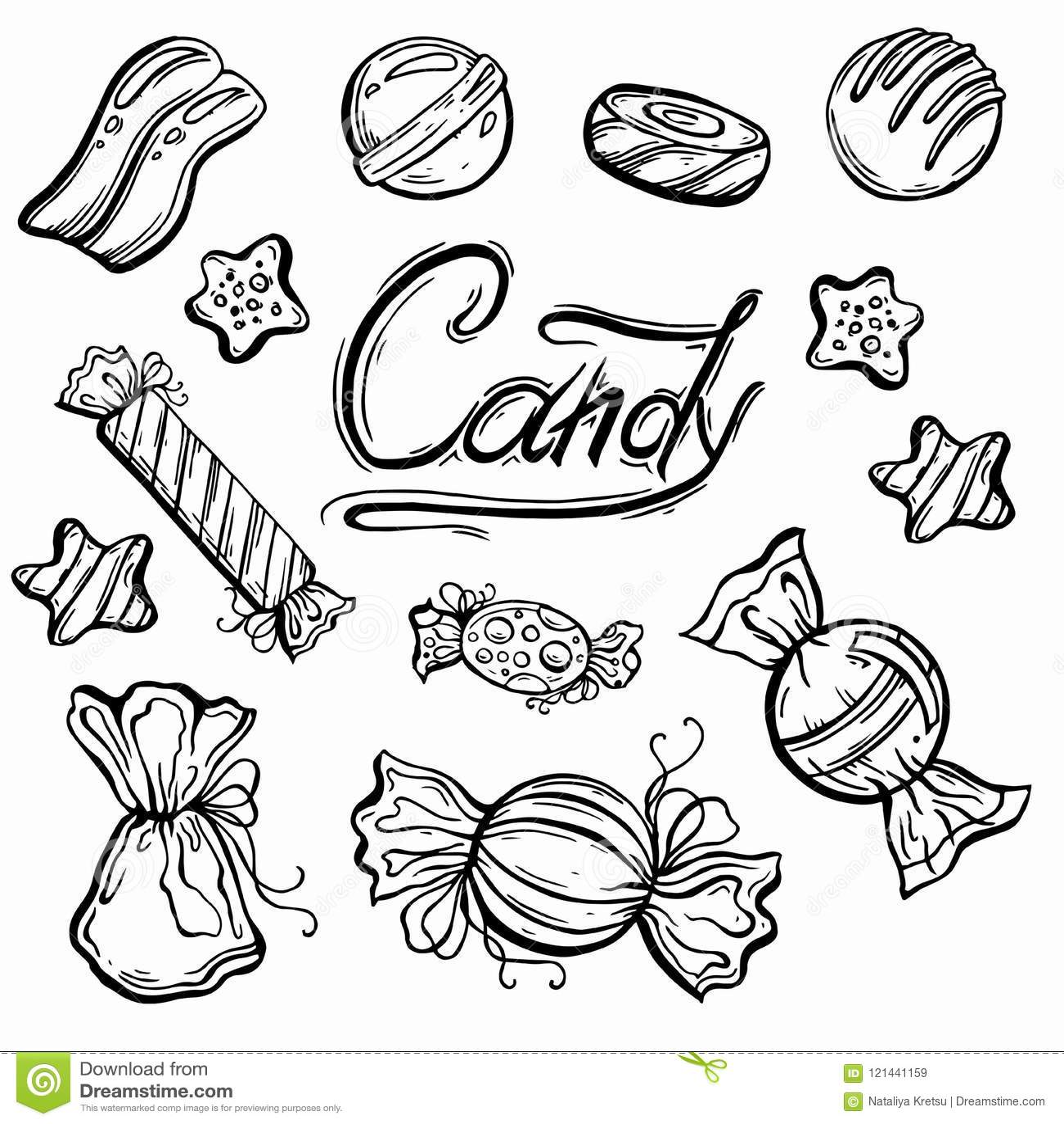heerlijke mooie grafische snoepjes vector illustratie