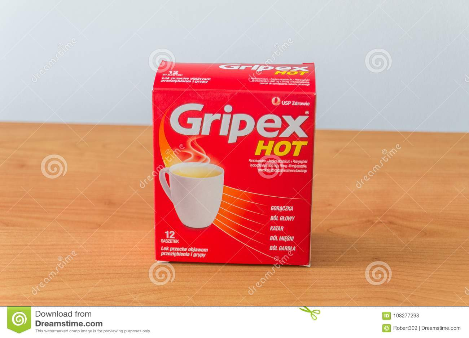 Heet Gripex is medisch aan griep of koorts wordt gebruikt die