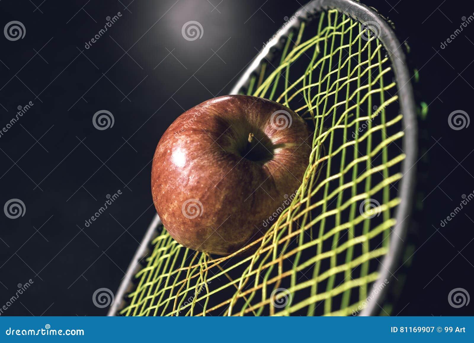 Diät mit rotem Apfel