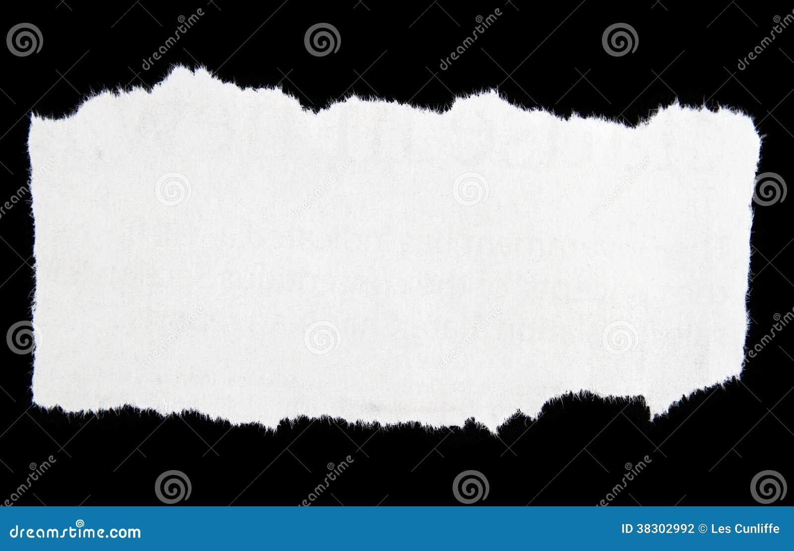 Heftiges Papier Stockfoto Bild Von Ausschnitt Rand