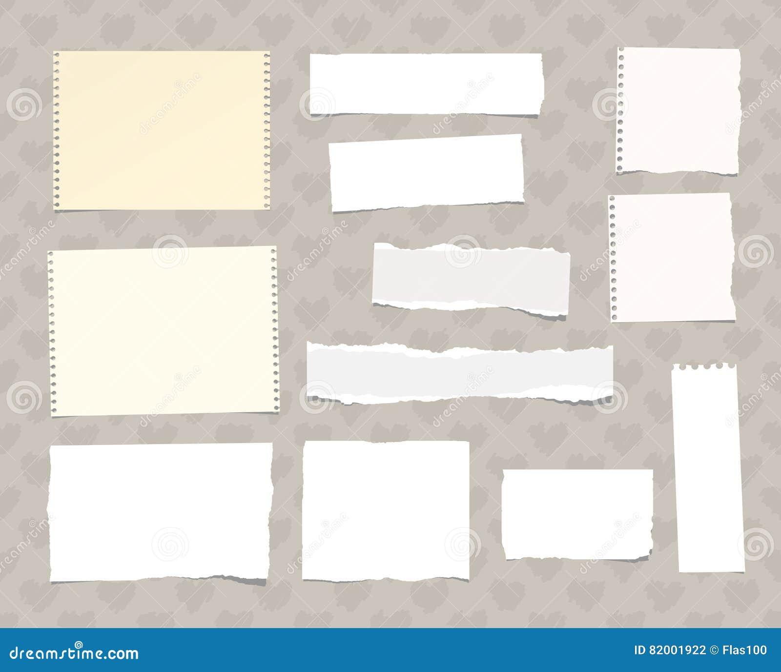 Heftiges weißes Notizbuch, das Briefpapier, das auf dem Muster geschaffen wird vom Herzen fest ist, formt