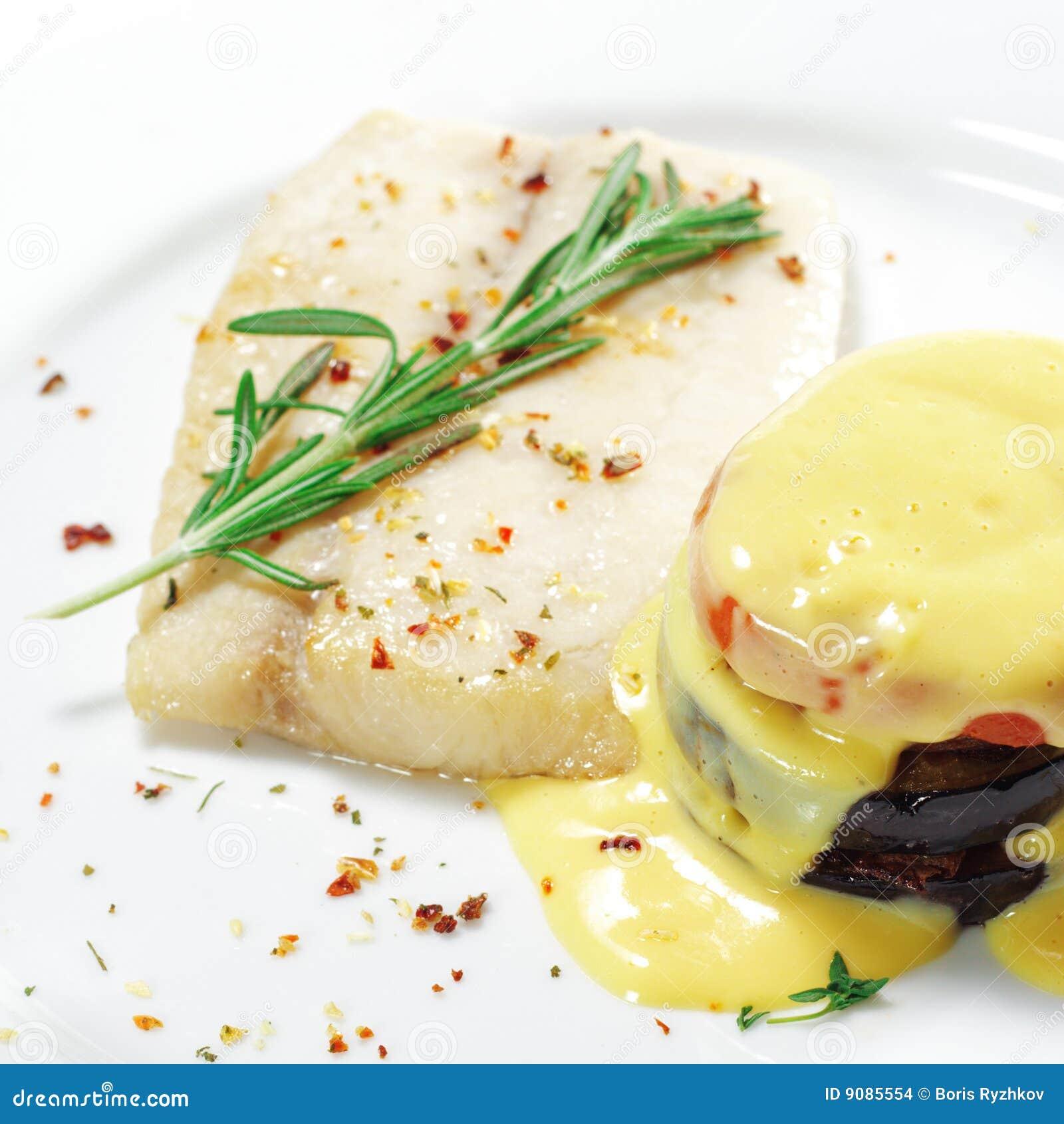 Heiße Fischgerichte - Sohle mit Zucchini