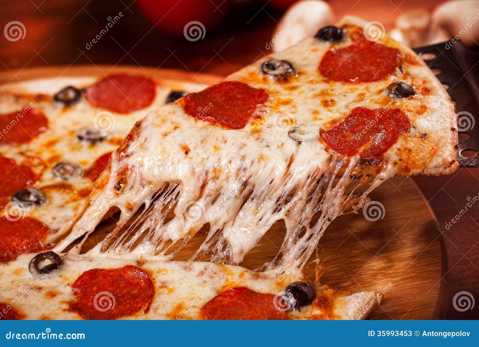 Heiße Pizza
