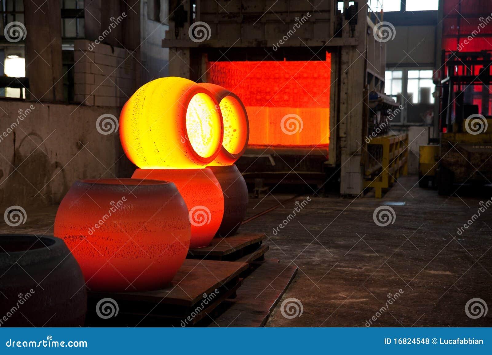 Heiße Stahlkugeln