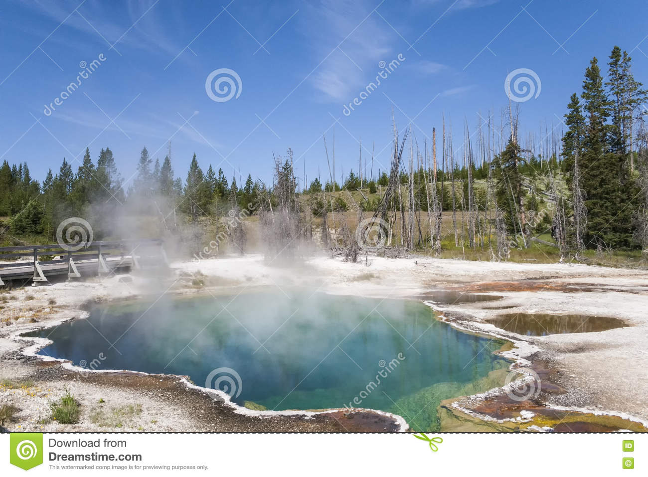 Heißes Pool in Yellowstone Nationalpark