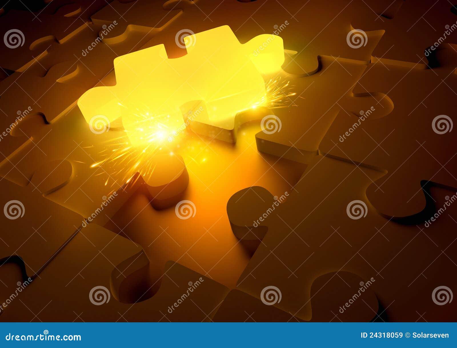 Heißes Puzzlespiel-Konzept