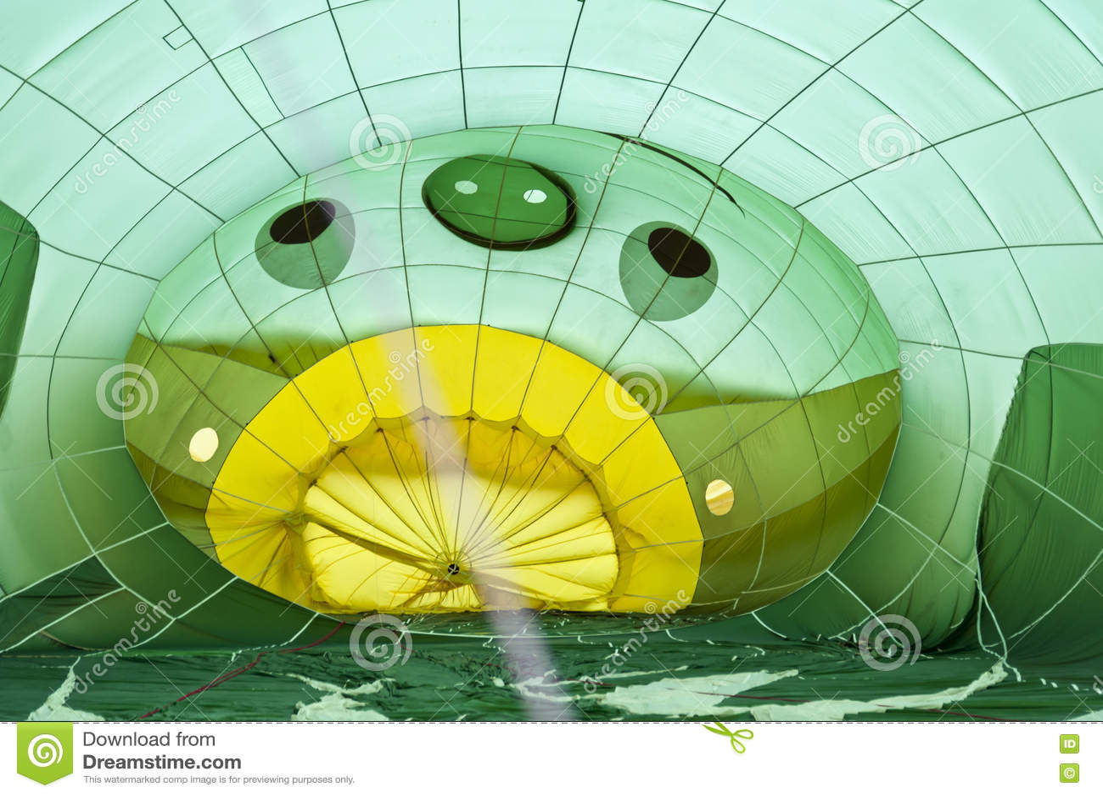 Heißluftballon photgrphed beim Bealton, VA-Flugwesen-Zirkus-Flugschau