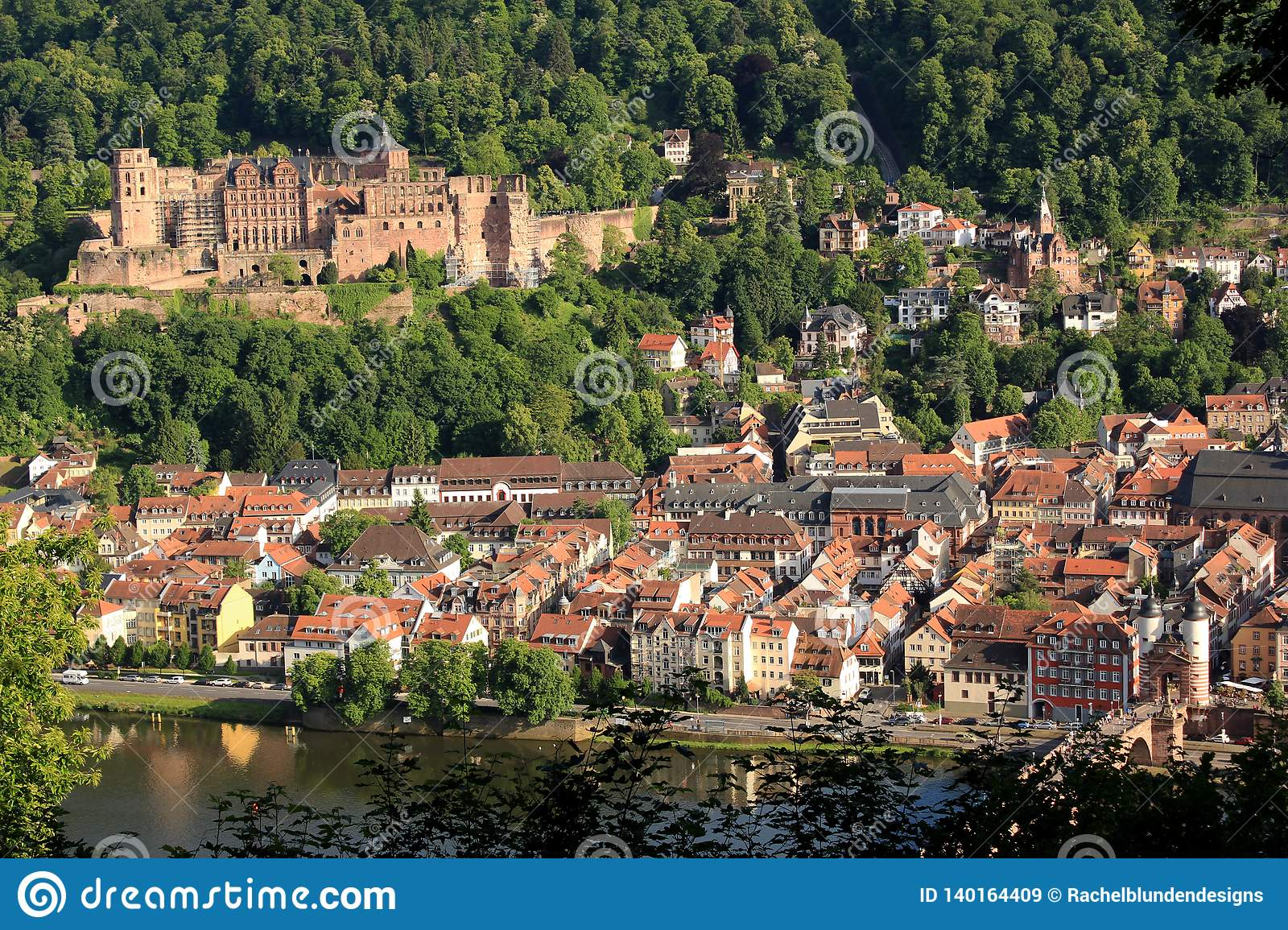 Heidelberg Germany Small German Town Lookout Stock Image Image Of
