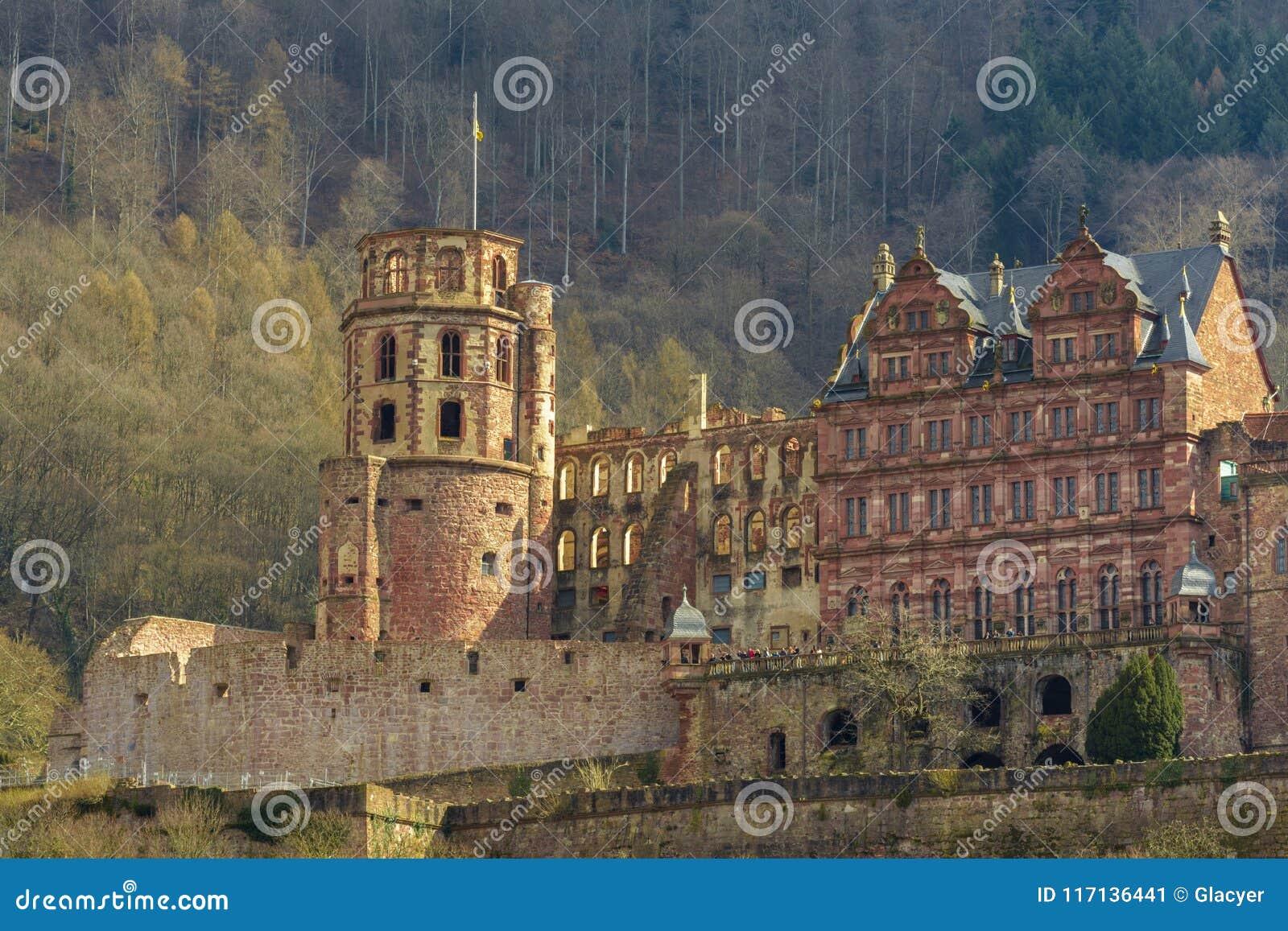 Heidelberg kasztel, Baden-Wuerttemberg, Niemcy