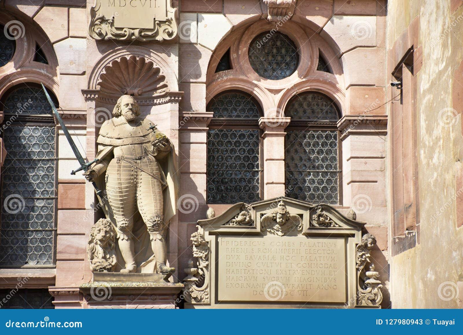 Heidelberg kasztel Schloss przy Heidelberg w Baden-Wurttemberg lub Heidelberger, Niemcy