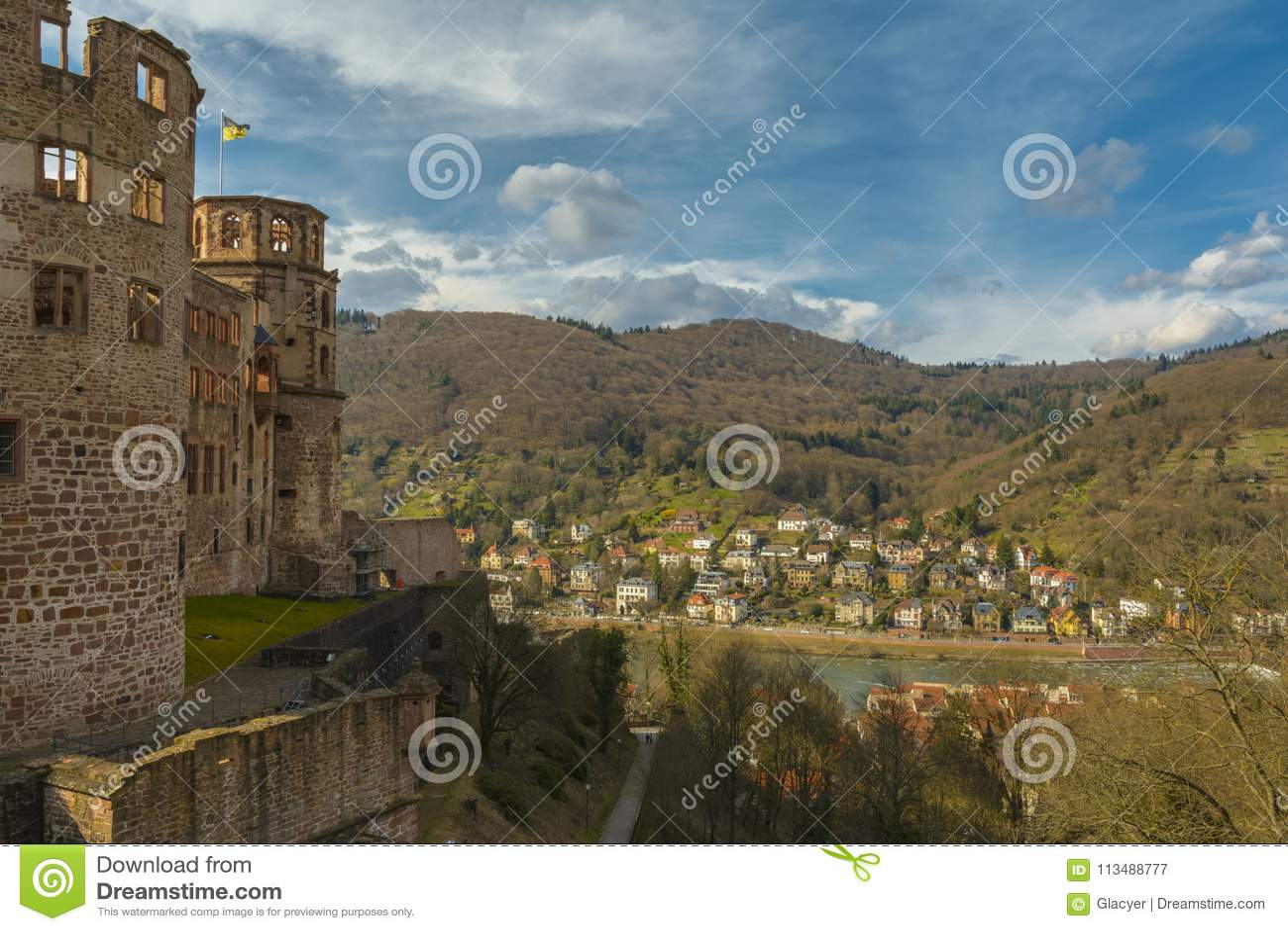Heidelberg slott, Baden-Wurttemberg, Tyskland