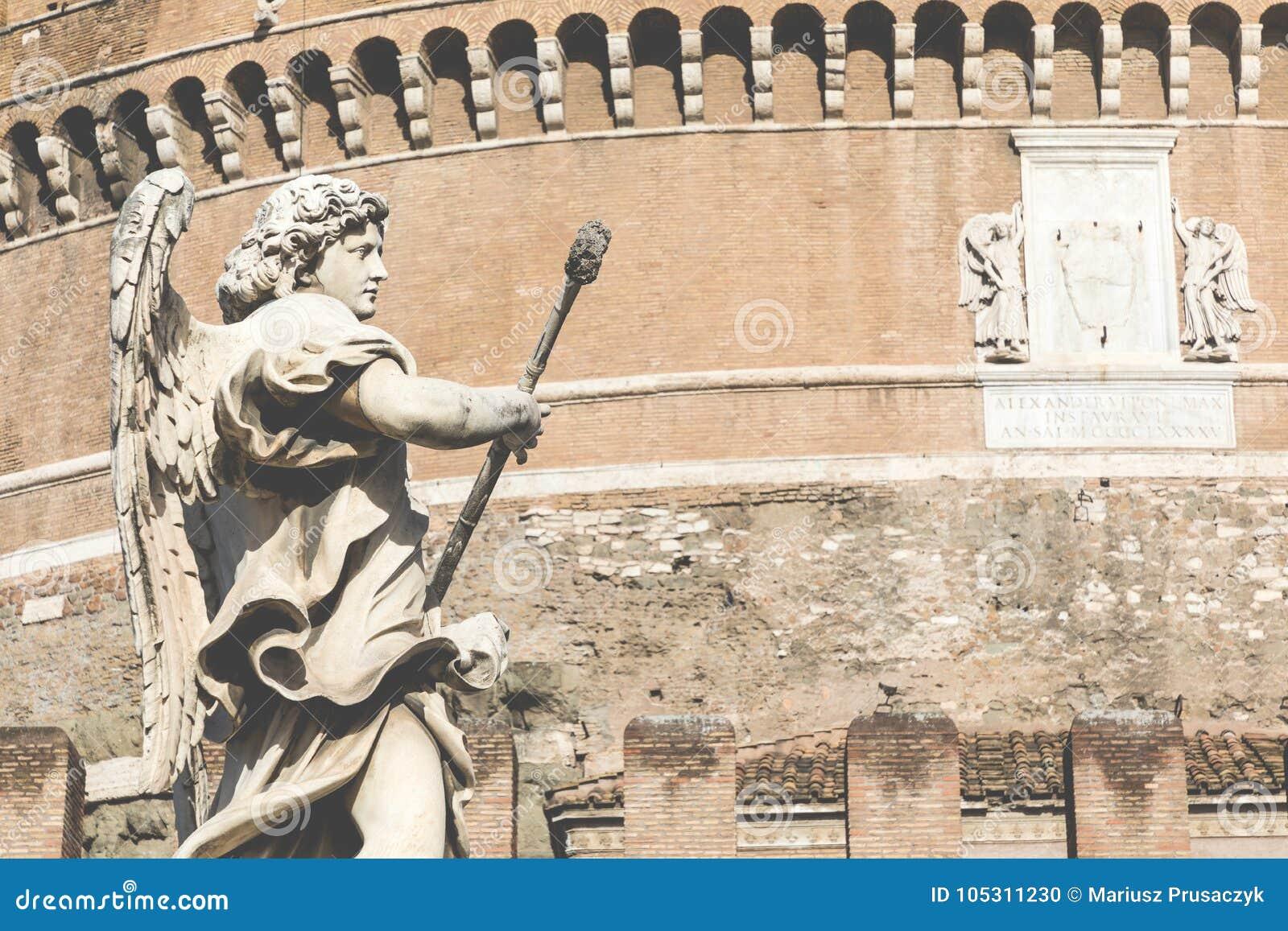 Heilig Engels Schloss In Rom Italien Stockfoto Bild Von