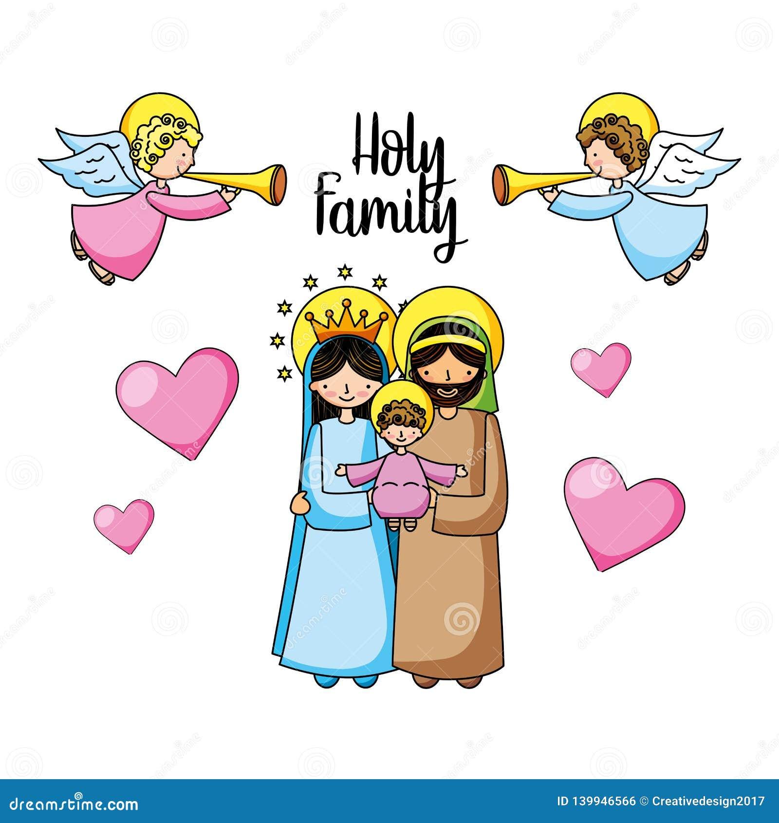 Heilige familie christelijke beeldverhalen