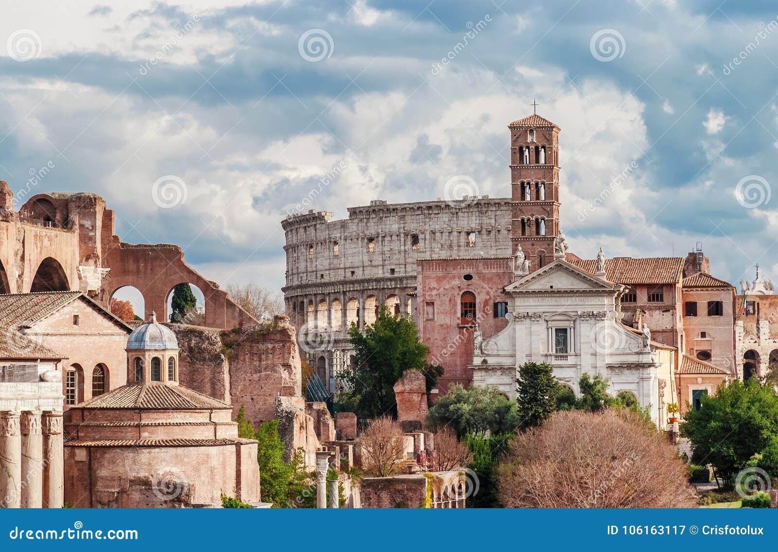 Heilige Frances van Rome met Coliseum
