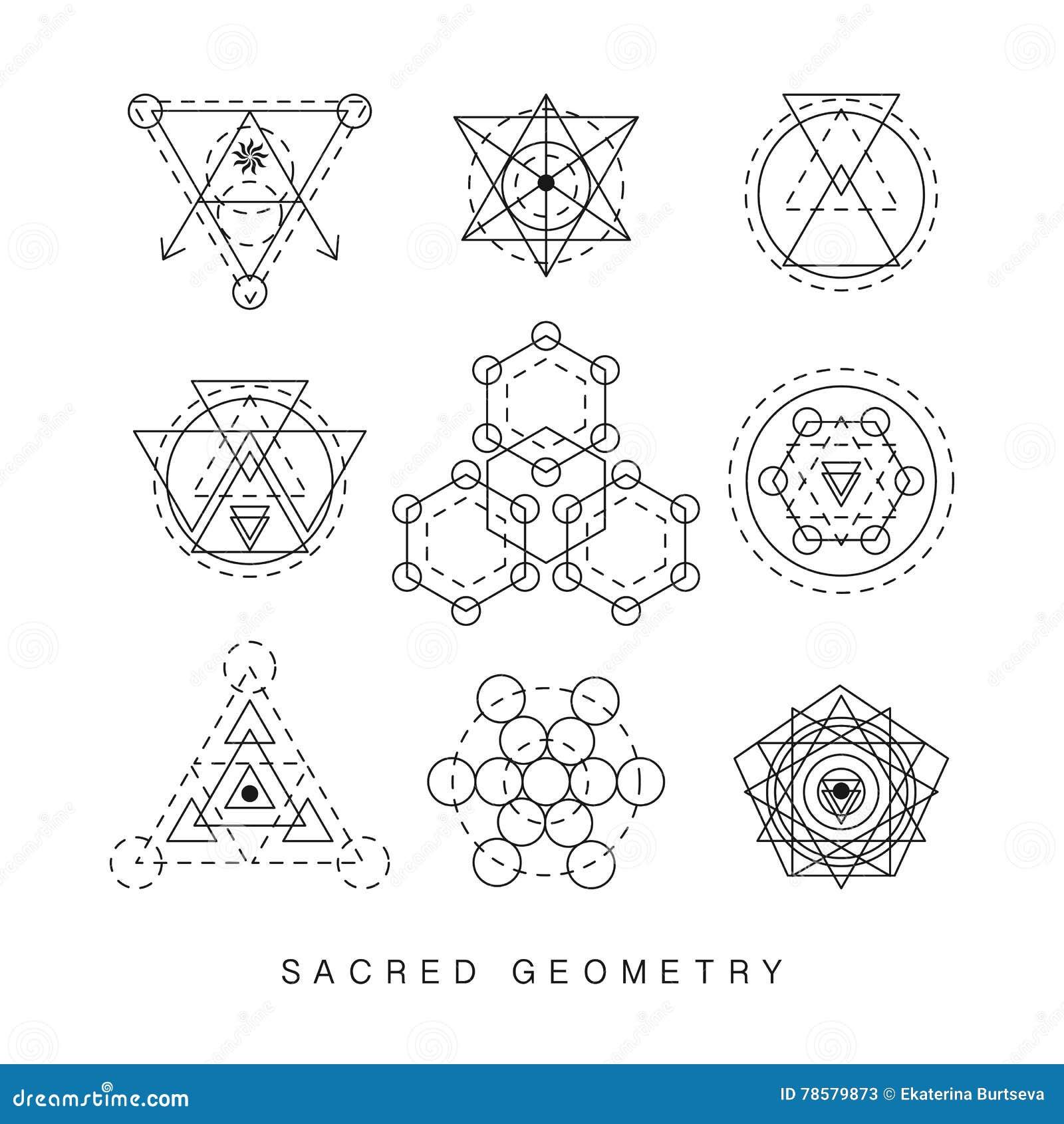 Heilige Geometriezeichen eingestellt