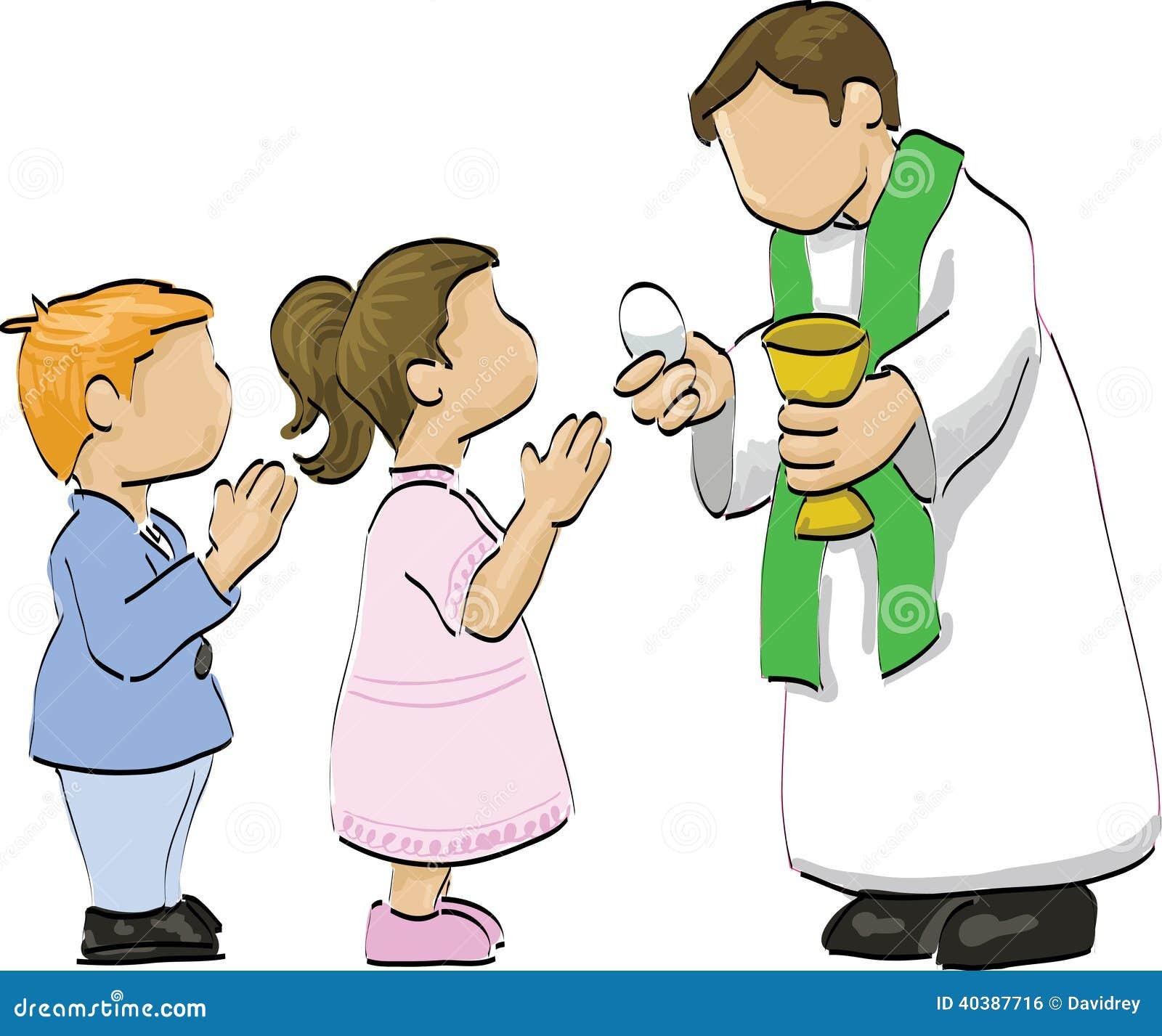 Heilige Kommunion Vektor Abbildung Bild Von Masse Junge 40387716