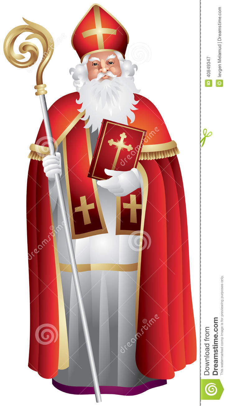 heilige nikolaus sinterklaas saint nicolas illustration. Black Bedroom Furniture Sets. Home Design Ideas