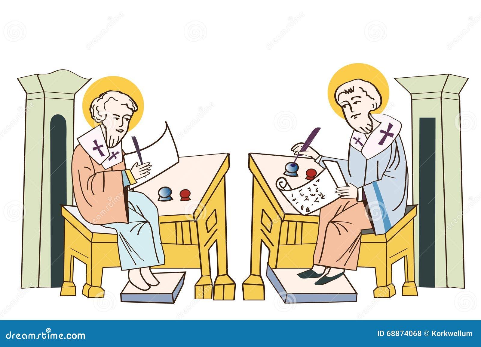 Heiligen Cyril en Methodius manuscripten De eerste printer