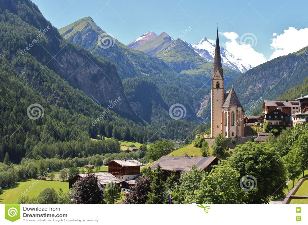 Download Heiligenblut, Austria stock image. Image of hohe, fairy - 77793389