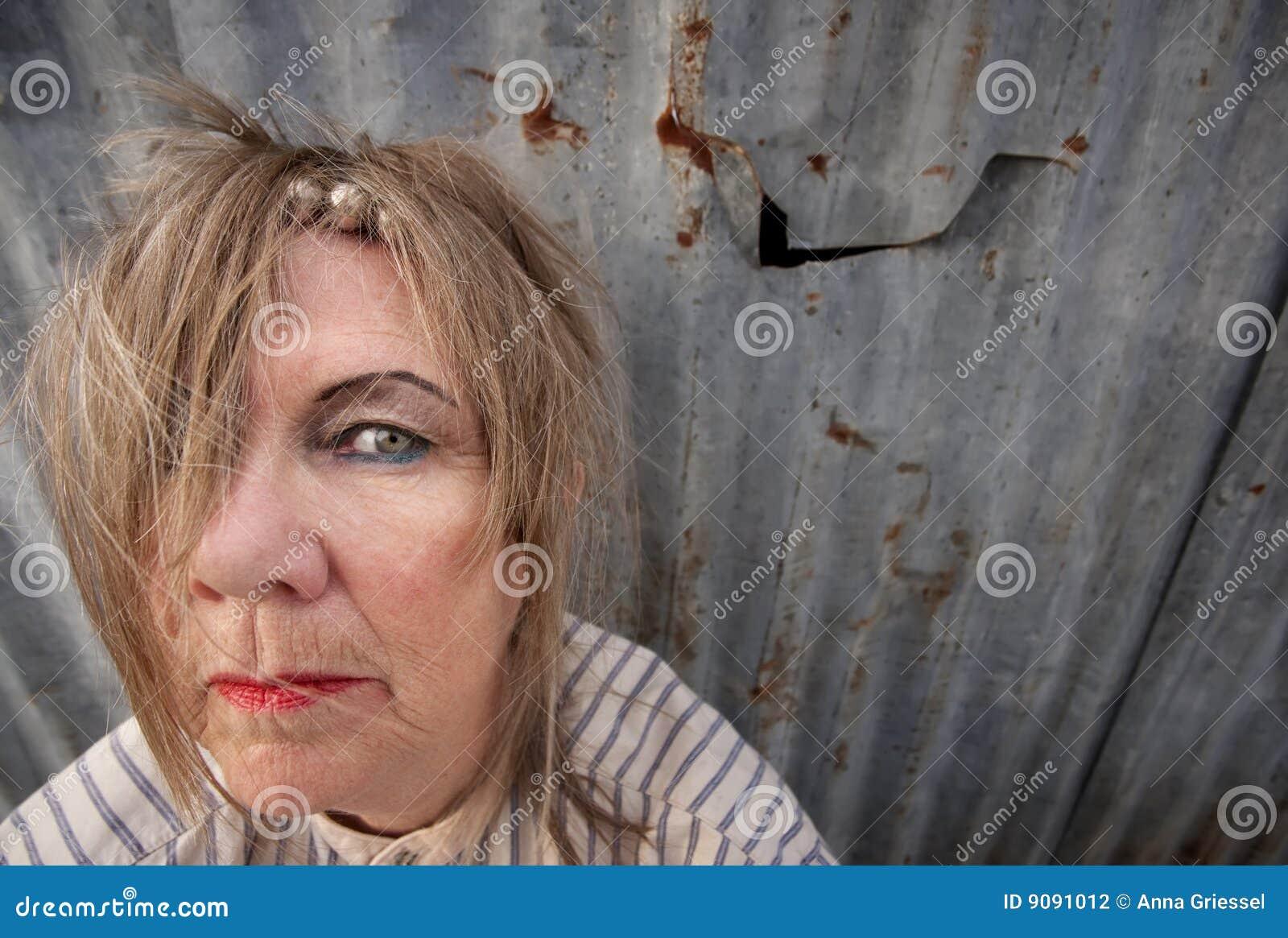 Heimatlose Frau