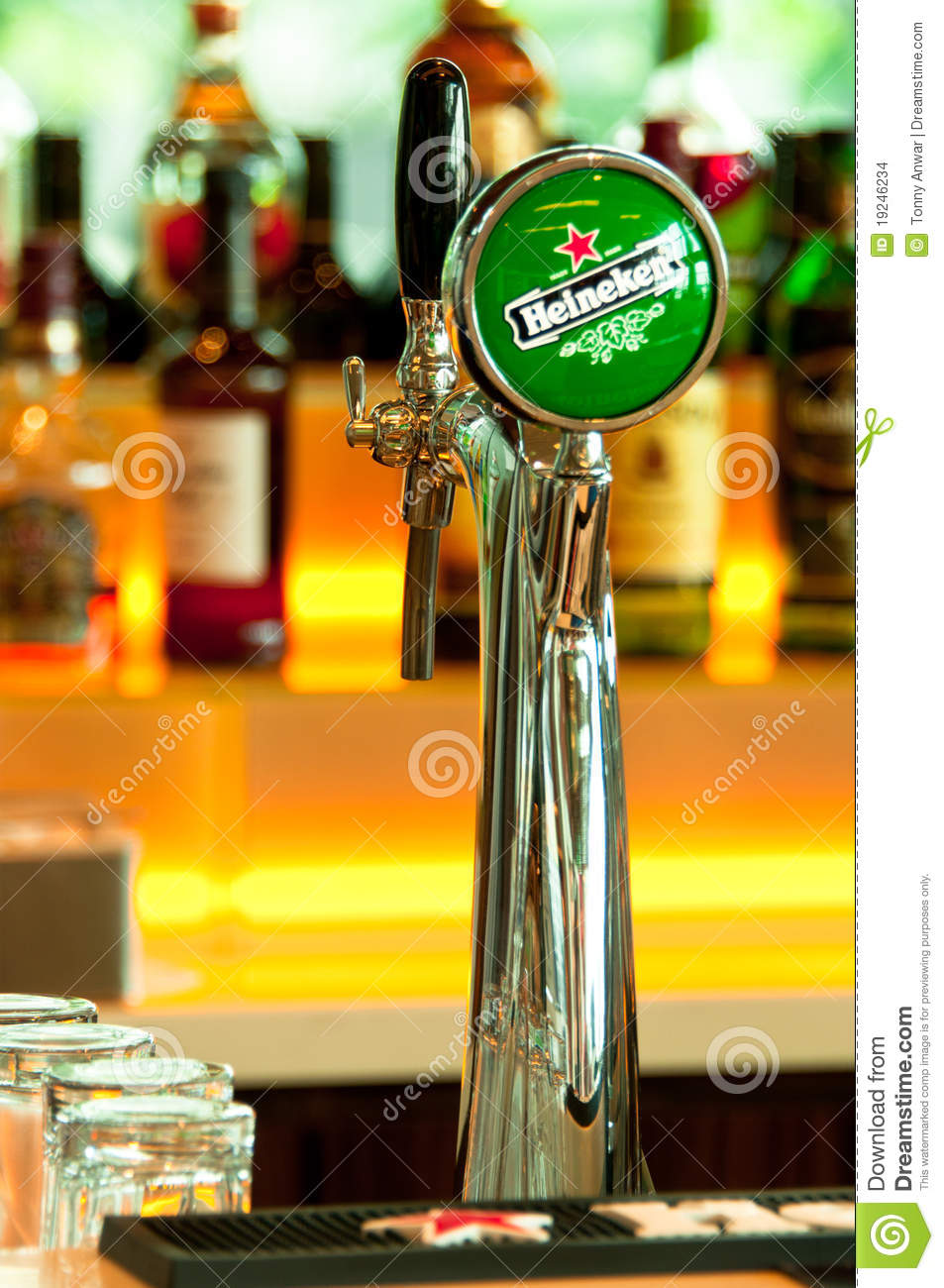 Heineken Beer Tap Editorial Stock Image Image 19246234