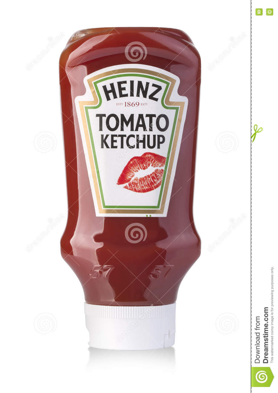 Heinz tomato ketchup sauce in plastic squeezable bottle