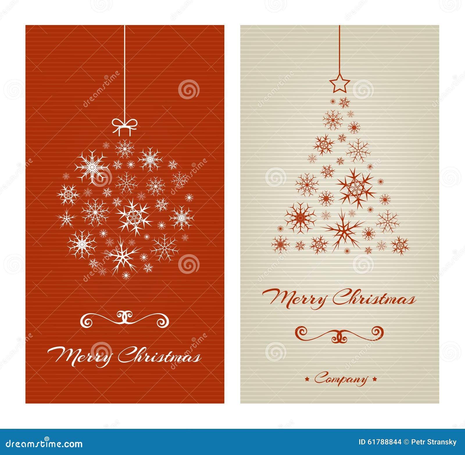 Heiraten Sie Weihnachtskarten Mit Ball Und Baum Von Vektor Abbildung ...