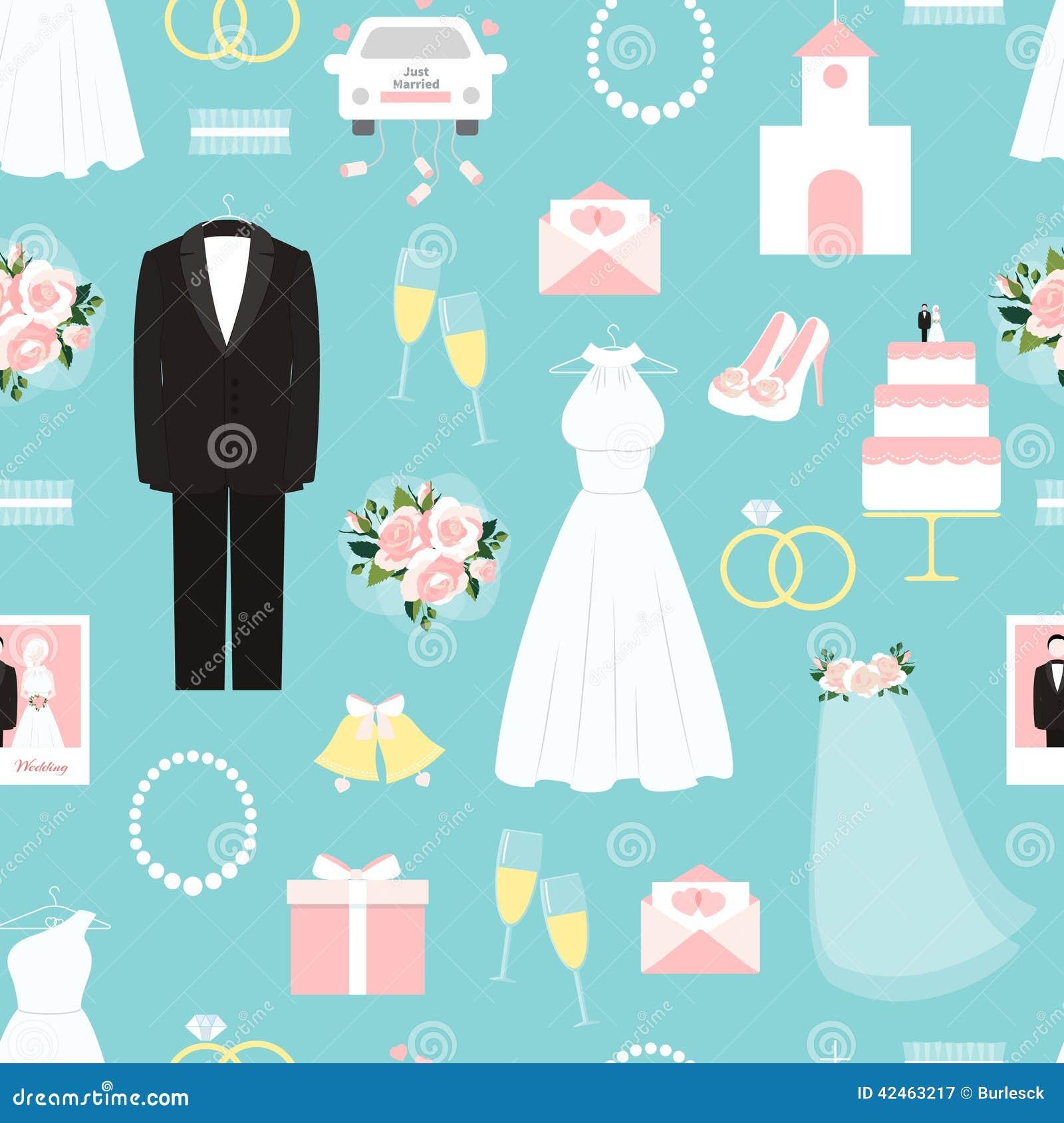 Heiratendes nahtloses Hintergrundmuster