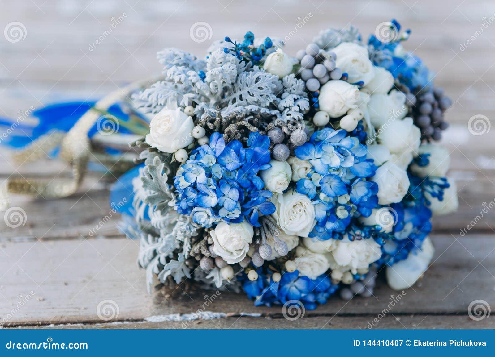 Heiratsblaue Hochzeitsblumen der schönheit